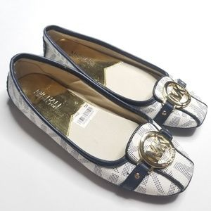 Michael Kors Ballet Flats, Navy/white, Women's 6.5